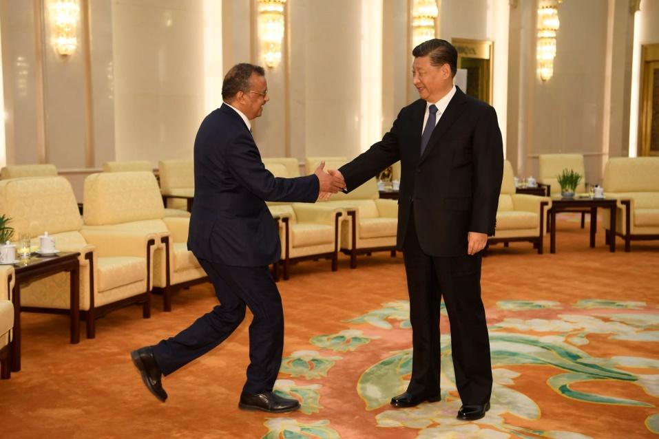Director General Of The World Health Organization, Tedros Adhanom, Visit To Beijing