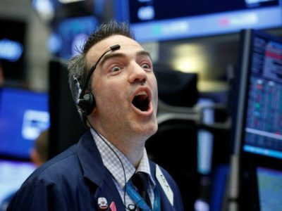 Dow Jones Industrials Climb Above 25,000 for the First Time.