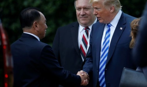 Trump says Singapore summit with Kim is back on after meeting North Korean official.