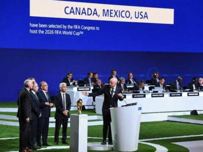 United States, Canada and Mexico win vote to host 2026 FIFA World Cup.