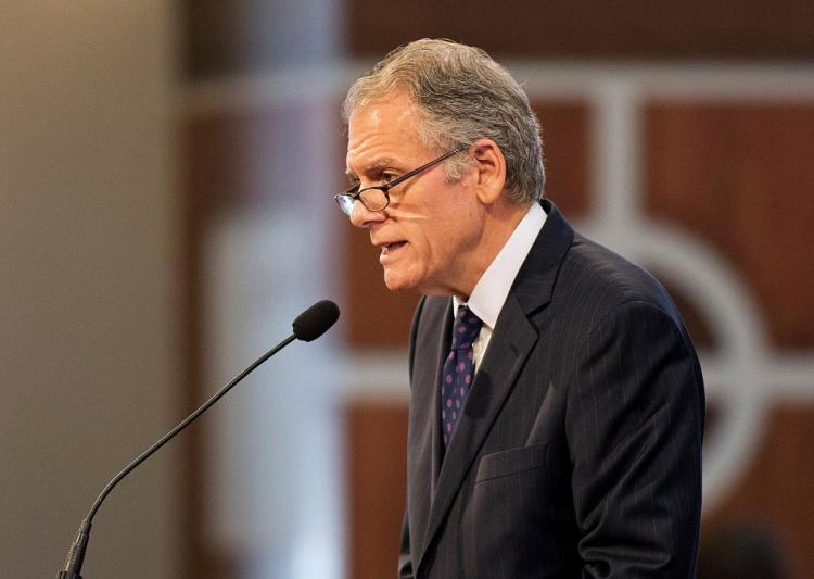 """FILE - In this Jan. 18, 2016, file photo Jeffrey DeLaurentis, then-Charge d'Affaires to the U.S. Embassy in Havana, Cuba, speaks in Atlanta. Raul Castro appeared as alarmed as the Americans. The United States, his nation's sworn enemy until recently, was demanding urgent answers about a spate of U.S. diplomats harmed in Havana. There was talk of futuristic """"sonic attacks"""" and the subtle threat of repercussions. What the Cuban president did next surprised Washington. Castro sought out Jeffrey DeLaurentis, then the top American diplomat in Havana. In a rare face-to-face conversation, Castro personally denied any responsibility and told DeLaurentis he was equally befuddled, several U.S. officials familiar with the exchange told The Associated Press. (AP Photo/David Goldman, File)"""
