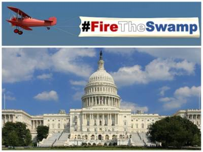 'Fire the Swamp' Banner to Fly over D.C. Beltway