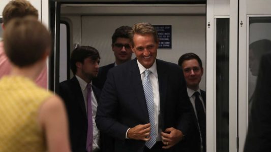 No, Trump Didn't Destroy Flake. Flake Destroyed Flake, And Now He's Cynically Pandering.