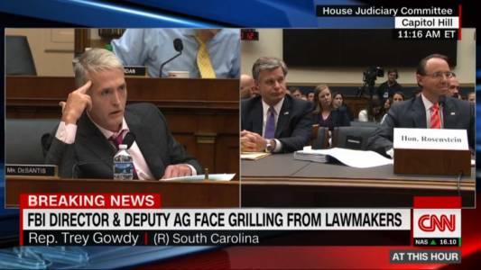 WATCH: Trey Gowdy Obliterates Rod Rosenstein Over Russia Investigation.