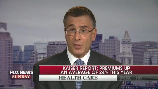 Watch: Obamacare architect tries to blame law's failures on Trump — then Chris Wallace steps in.
