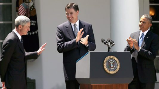 Deep State Mocks Trump => Obama's Photographer Posts Photo of Chums Obama, Mueller and Comey