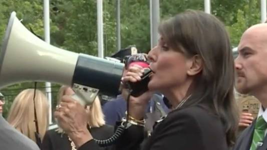 WATCH: Nikki Haley Grabs Megaphone At Rally To Support Protesters Against Venezuelan President.