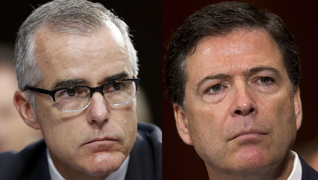 """Image result for images of james Comey and Andrew McCabe"""""""