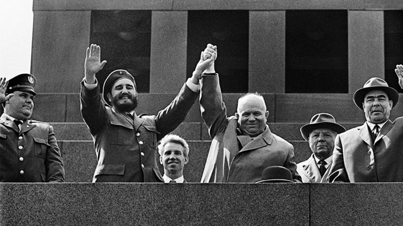 Image result for pictures of fidel castro and soviet premier nikita khrushchev