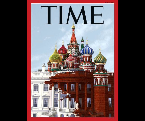 Image: Time Magazine Cover Illustrates Russia Overtaking White House