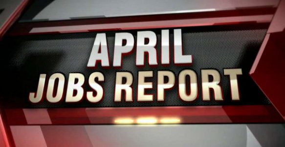 US created 211,000 jobs in April, vs 185,000 jobs expected.