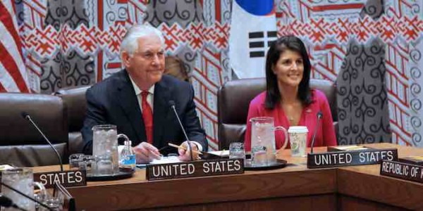 Secretary of State Rex Tillerson's Failures and Nikki Haley's Successes