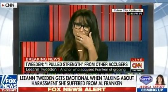 VIDEO => Model Leeann Tweeden Breaks Down Crying Talking About Al Franken's Sexual Assault.