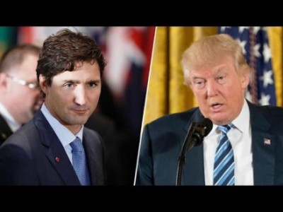 Trump Hits Justin Trudeau Square In The Jaw Over Trade.