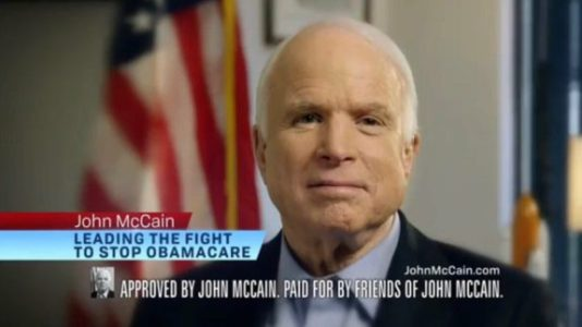WATCH: McCain 2016 Campaign Ad: He 'Is Leading The Fight To Stop Obamacare'