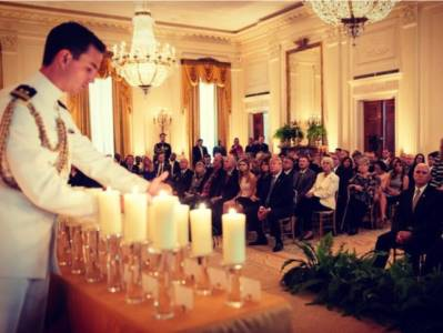 First Lady Hosts Gold Star Families, Reminds Americans of the Military's 'Selfless Sacrifices' for Freedom.