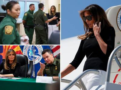 Melania Trump Visits Tucson Facility to Speak with Border Agents.