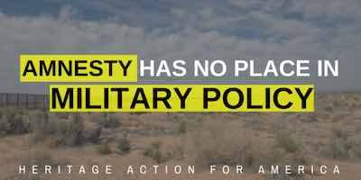 H.R. 60 would allow illegal aliens to serve in the military