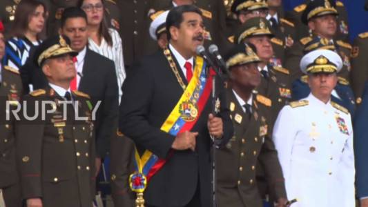 WATCH: Assassination Attempt Made On Venezuelan President Nicolas Maduro, Reports Suggest.
