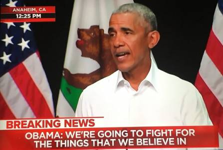 The Thrill Is Gone: Only 750 Turn Out to See Former President Obama in Far-Left California.