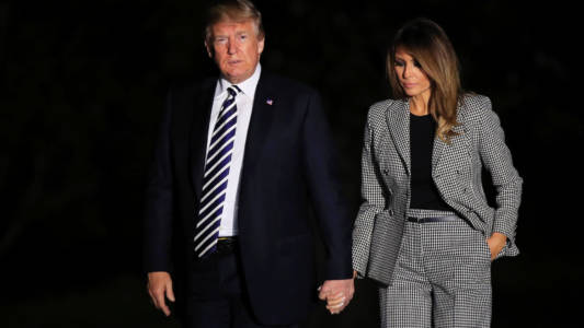 Trump lashes out at 'unfair' and 'vicious' Melania coverage.