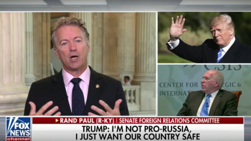 RAND PAUL: 'The Only Person We Know Colluded with Russia was HILLARY CLINTON'
