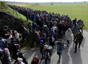Refugee populations causing economic disaster in Europe.