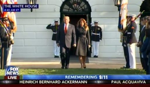 AMAZING VIDEO! President Trump and First Lady Melania Trump Commemorate 9-11 Attacks on America