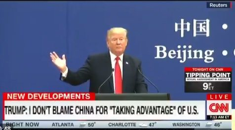 In Beijing Trump BLASTS Previous Administrations for $347 Billion Trade Deficit with China (VIDEO)