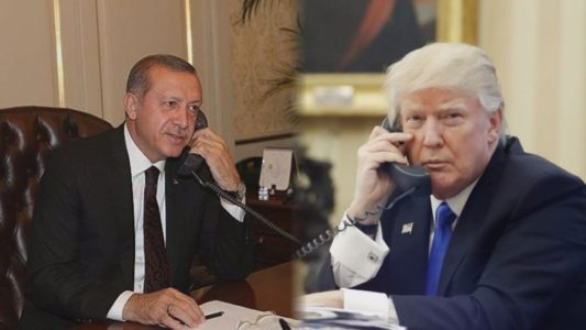 Trump tells Erdogan US will stop arming Kurdish rebels.
