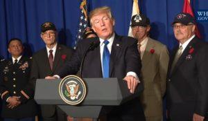 AMAZING VIDEO! Vietnam War Veteran Cries on President Trump's Shoulder During Vietnam Speech
