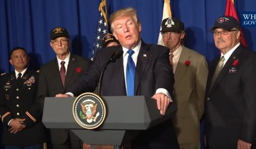 AMAZING VIDEO! Vietnam War Veteran Cries on President Trump's Shoulder During Vietnam Speech