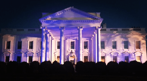 Unlike Obama, Trump Lights White House Blue to Honor Law Enforcement.