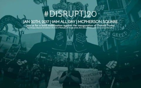 Warning:  #DisruptJ20 Threatens the Presidential Inauguration Ceremony