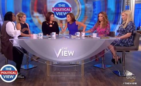 """Get the F*ck Out of Here!"" Whoopi Goldberg Screams at Judge Jeanine Pirro Off Camera After Heated Exchange."