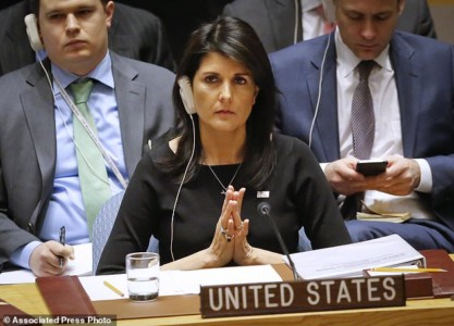 UN ambassador Haley: 'The era of the United States leading from behind is over'