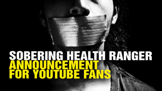 TYRANNY ON PARADE => YouTube Deletes Natural News Channel as Google Ramps Up Purge of Conservative Channels.